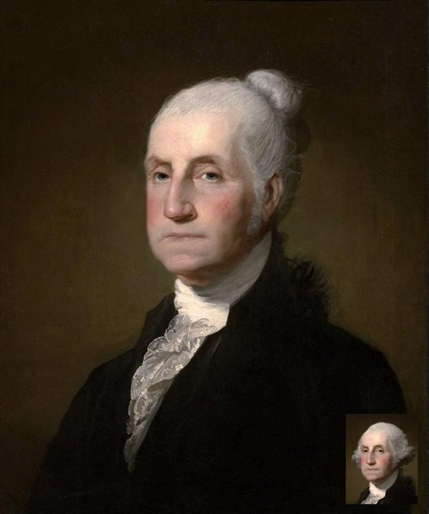 George Washington peinado hipster