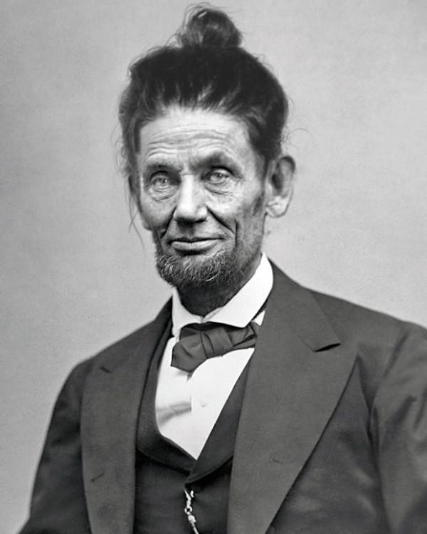 Abraham Lincoln peinado hipster