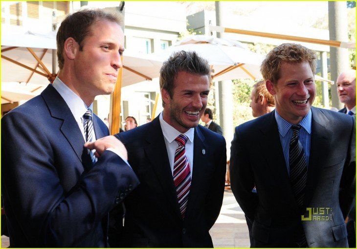 david beckham principe harry y principe william