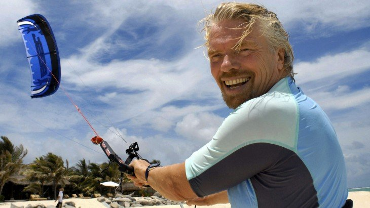Sir Richard Branson de vacaciones