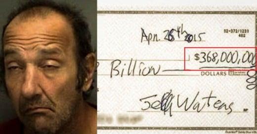 Intentó cobrar un cheque de 368 mil millones para abrir un restaurante bajo el agua