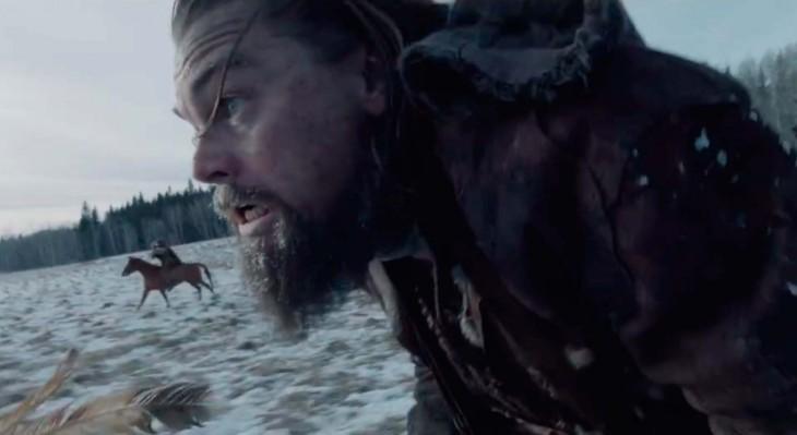 Leonardo Di Caprio con barba y corriendo