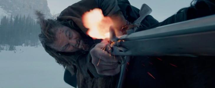 Leonardo Di Caprio disparando