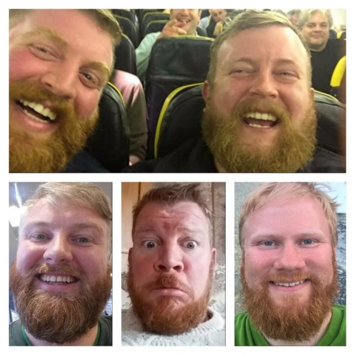 Hombres gordos con barba