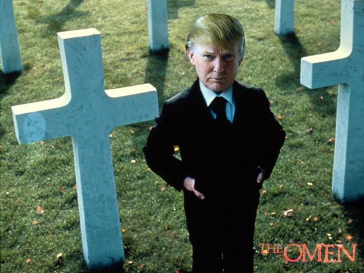 Donald Trump en cementerio