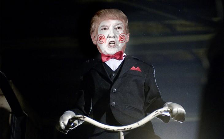 Donald Trump como muñeco