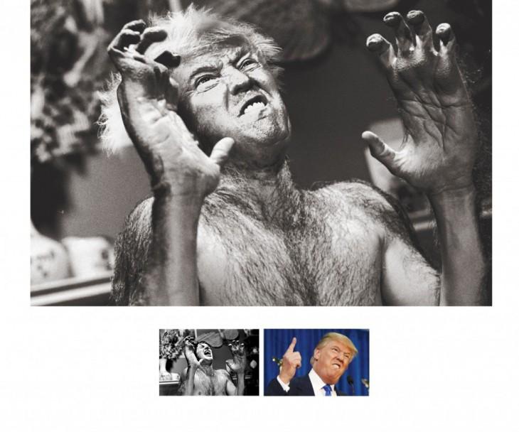 Donald Trump es hombre lobo