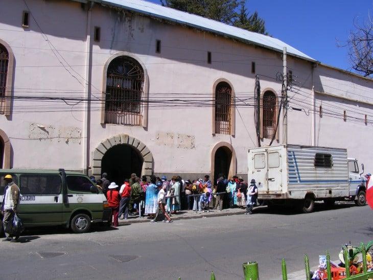 Entrada de la cárcel de San Pedro