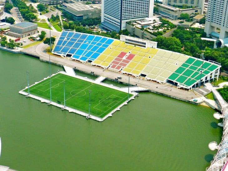 Estadio flotante en Singapur