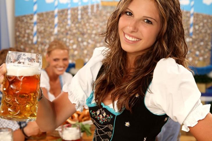 Mesera en el Oktoberfest