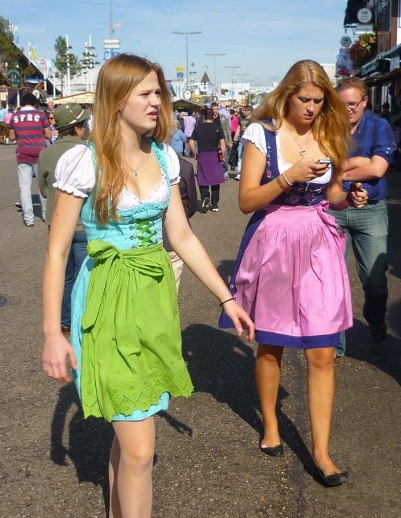 Caminando en el Oktoberfest