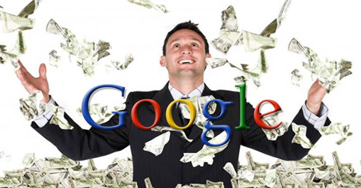 Hombre rico con Google