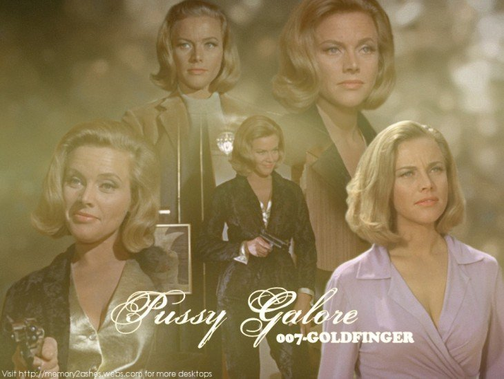 Collage de Pussy Galore en Goldfinger