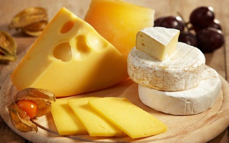 Algunos tipos de queso