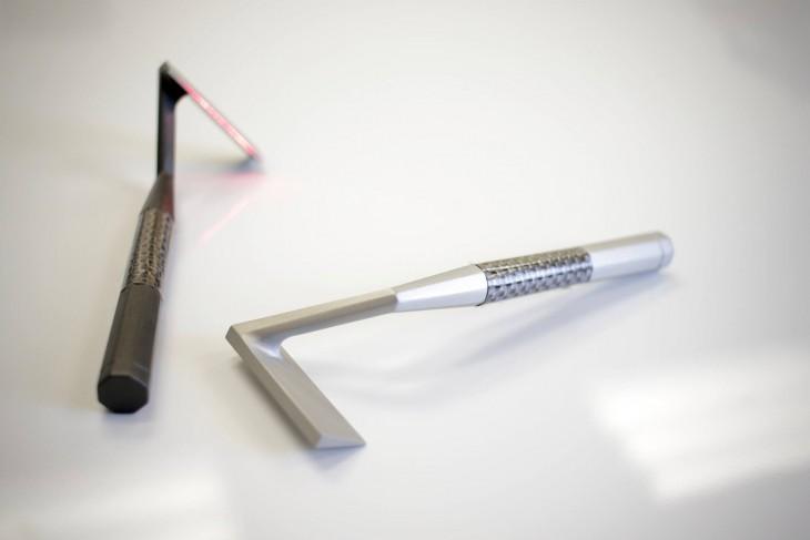 rastrillo laser skarp gris y negro