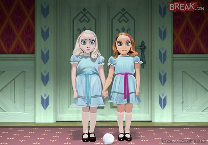 Elsa y Ana en El Resplandor
