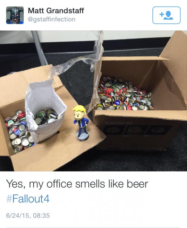Mi oficina huele a cerveza