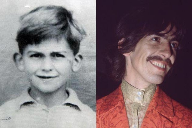 George Harrison niño y adulto