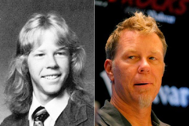 James Hetfield antes y después