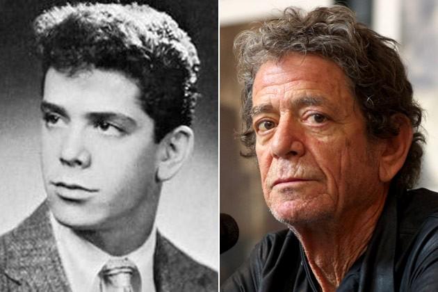 Lou Reed joven y viejo