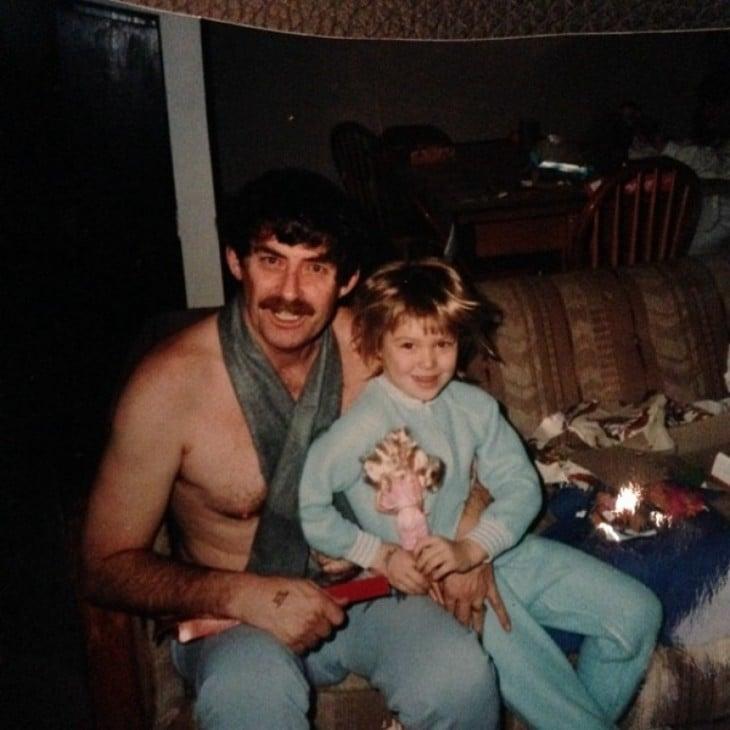 Ronda Rousey con su padre Ron