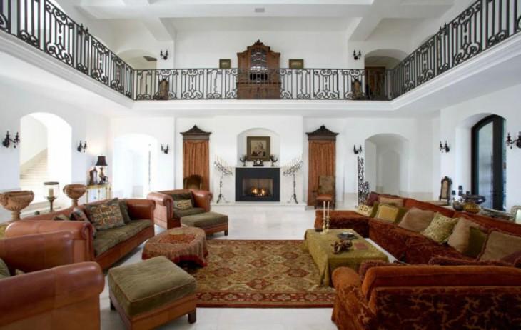 Sala de lujo en mansión