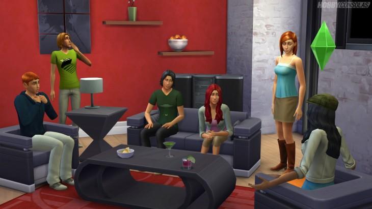 Sims asustados en la sala