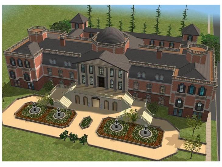 Mansión de lujo en Sims