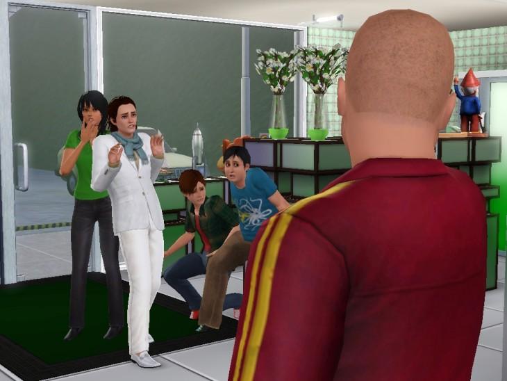 Escena de The Sims