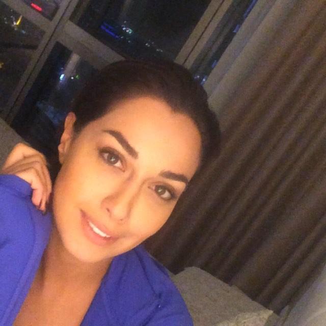 Selfie de la actriz Sadaf