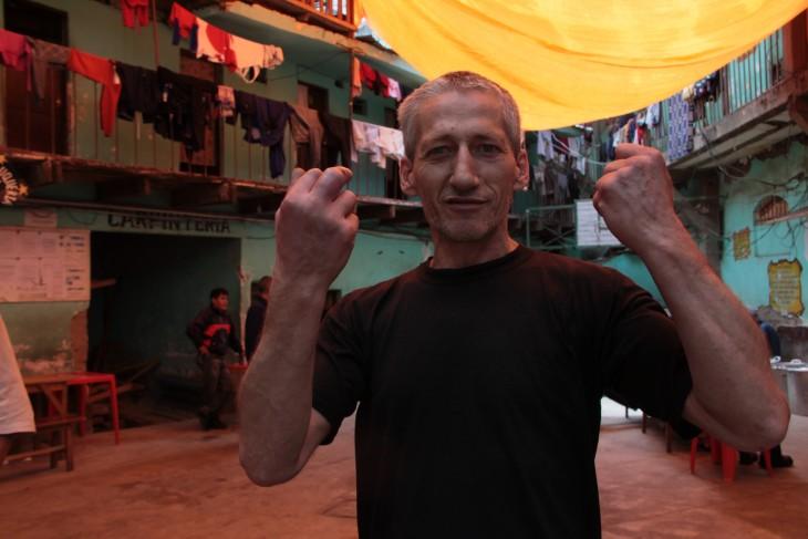 Hombre en la cárcel de San Pedro