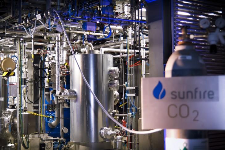 Planta Sunfire para transformar CO2