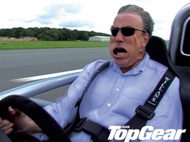 Jeremy Clarkson con la boca abierta