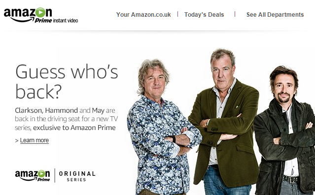 top gear regresa a la pantalla con amazon prime