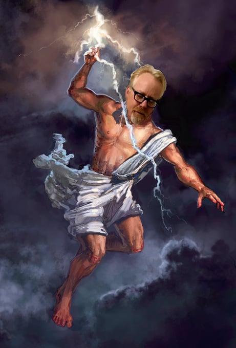 Photoshop de Adam Savage dios