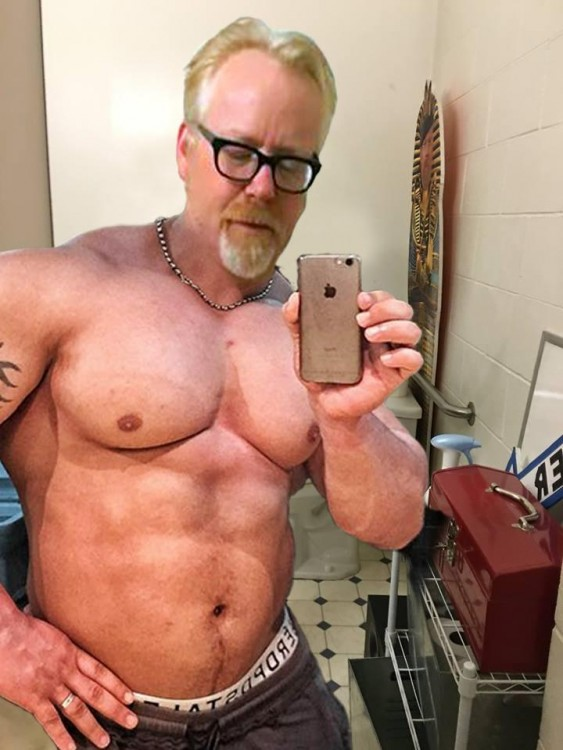 Photoshop de Adam Savage músculos