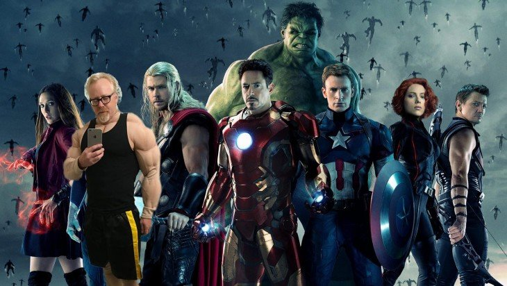 Photoshop de Adam Savage the avengers