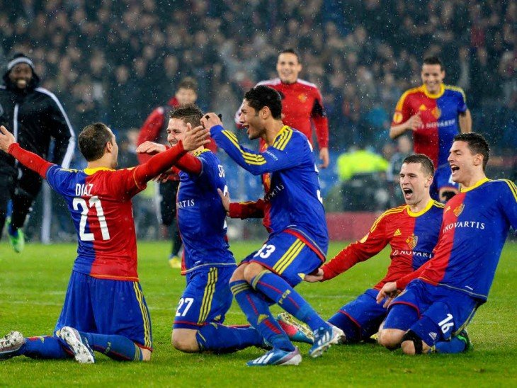FC Basel festejando