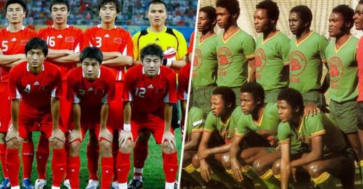20 Países que sólo han aparecido una vez en los Mundiales. ¡Debut y despedida!