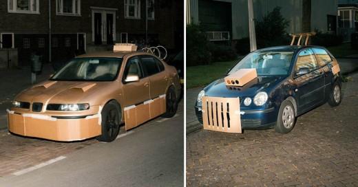 """Fotógrafo """"Tunea"""" autos de extraños por las noches…"""