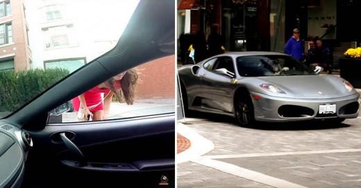 Hombre en Ferrari le pide el teléfono a una chica y esto pasa...