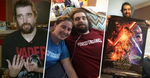 Muere el enfermo de cáncer que vio primero que nadie la nueva película de Star Wars the force awakens