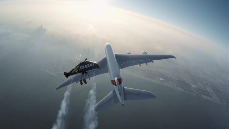 Yves Rossy, volando sobre dubai