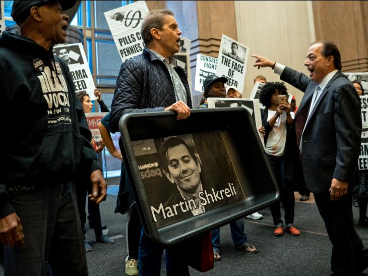 protestas contra Martin Shkreli