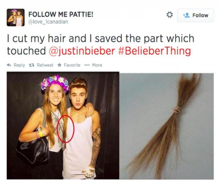 chica con cabello Justin Bieber
