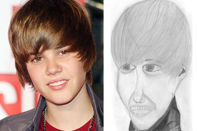 debujo de Justin Bieber