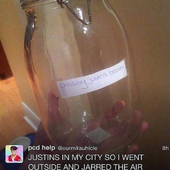 frasco de Justin Bieber