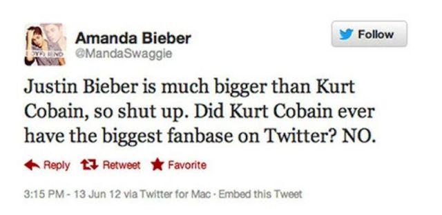 Kurt Cobain Justin Bieber