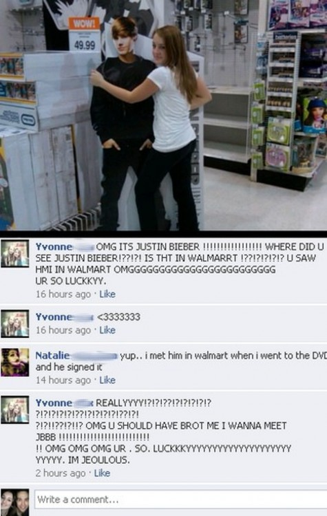 walmart fail Justin Bieber