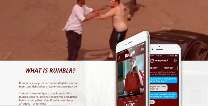 aplicación de Rumblr